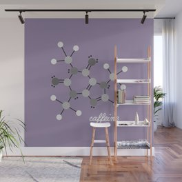 Caffeine Molecule Wall Mural