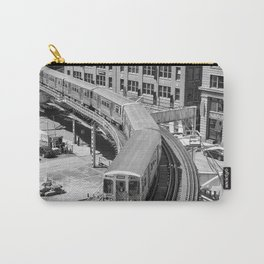 Brown Line Carry-All Pouch