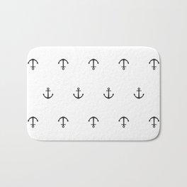 Many stamped black anchors Bath Mat