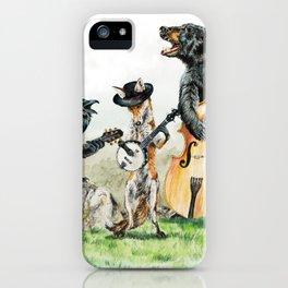 """ Bluegrass Gang "" wild animal music band iPhone Case"