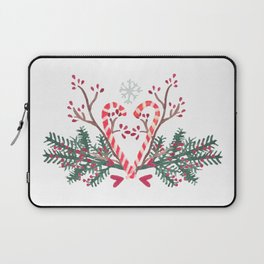 Candy Canes motif Laptop Sleeve