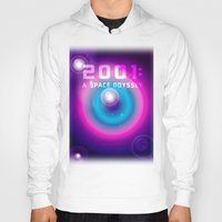 2001 a space odyssey Hoodies featuring 2001 a Space Odyssey by Scar Design