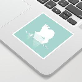 Polar bear in trouble Sticker