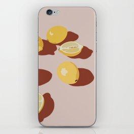 bright lemons iPhone Skin