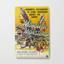 Vintage poster - The Monolith Monsters Metal Print