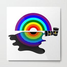 Oil slick rainbow Metal Print