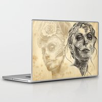 calavera Laptop & iPad Skins featuring Calavera - two by Fresh Ink