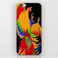 cock iPhone & iPod Skins featuring Cock Fight by Saundra Myles