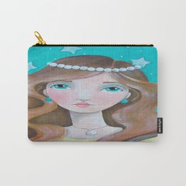 Girl with Pearls Carry-All Pouch