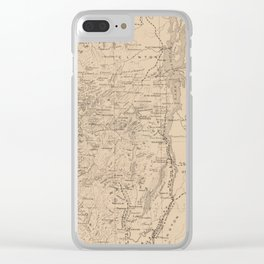 Vintage Map of The Adirondack Mountains (1874) Clear iPhone Case