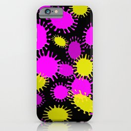 Fun Magenta & Yellow Splotch Pattern iPhone Case