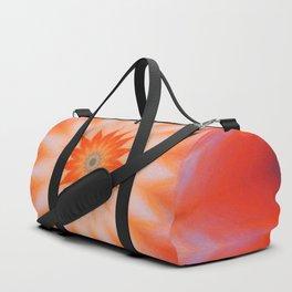 Peach Sunburst Mandala Duffle Bag