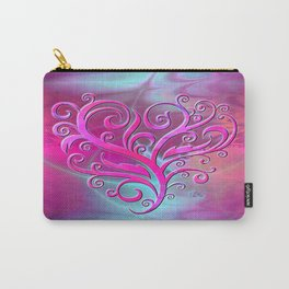 Poetic Heart (hot pink-shell) Carry-All Pouch