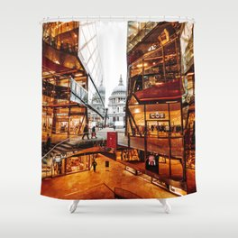 st paul in london Shower Curtain