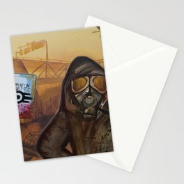 Nuclear Fallout Wasteland Stationery Cards