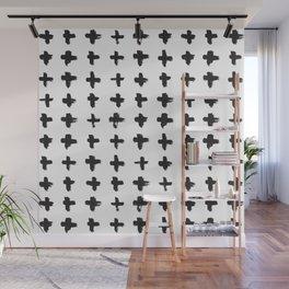Brushstroke Swiss Cross Pattern Wall Mural