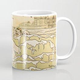 Cabourg Paris Beach art nouveau travel ad Coffee Mug