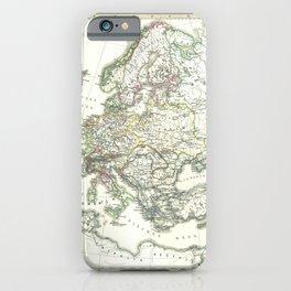 Vintage Map - Spruner-Menke Handatlas (1880) - 09 Europe after the Peace of Westphalia, 1648 iPhone Case