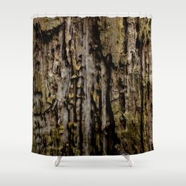 Old Wood Close up Shower Curtain