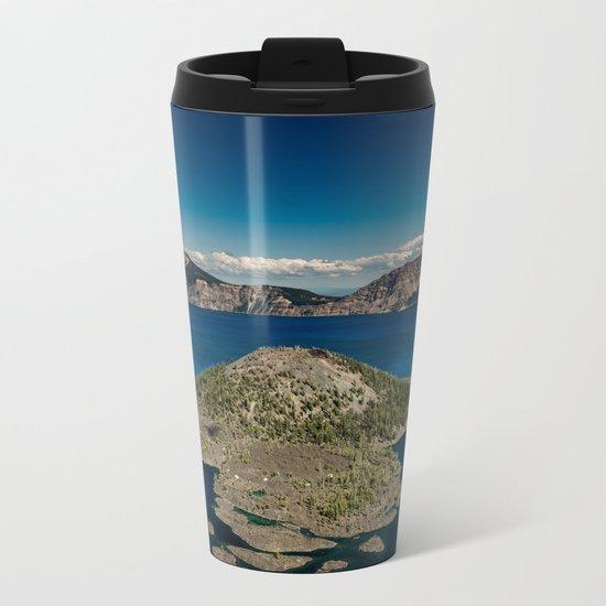 Crater Lake Love Metal Travel Mug