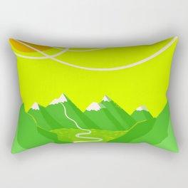 Minimalist Mountains Rectangular Pillow
