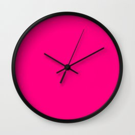 Think Pink : Solid Color Wall Clock