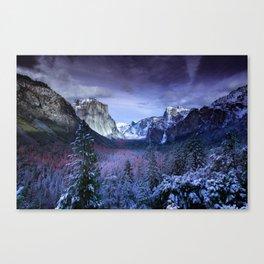 Yosemite in Winter Canvas Print