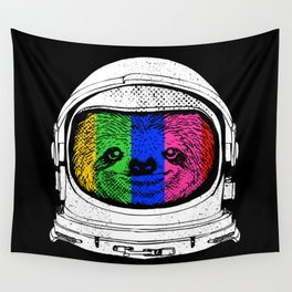 Astronaut Sloth Wall Tapestry