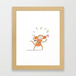 Artist Monkey Framed Art Print