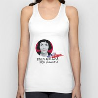 amelie Tank Tops featuring Dreamer Amelie  by MissAtomicBomb