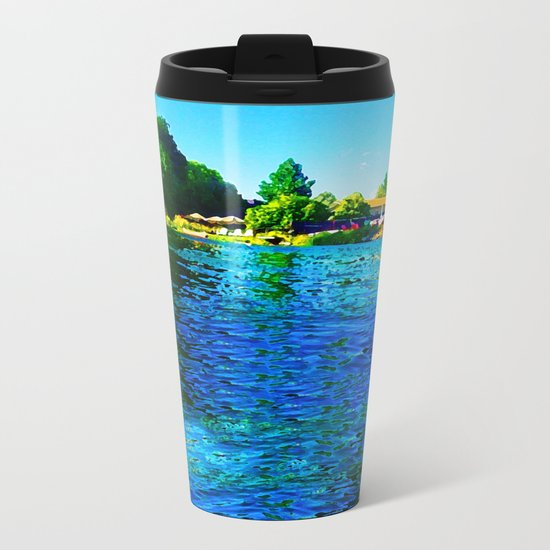 Bright River Flowing Metal Travel Mug