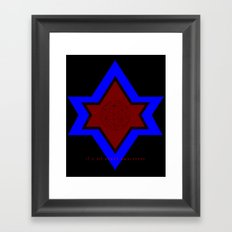 IT'S ALL ABOUT AWARENESS Framed Art Print