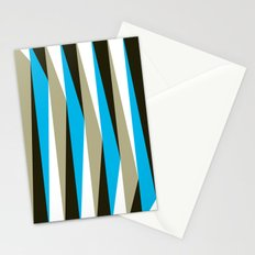 Geometric Pattern #22 (blue triangles) Stationery Cards