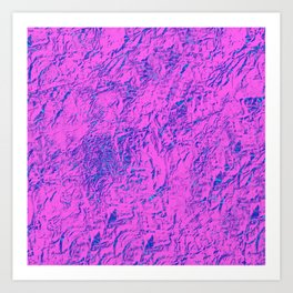 Textured Pink And Blue Art Print