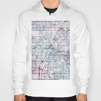 las vegas Hoodies featuring Las Vegas map by MapMapMaps.Watercolors