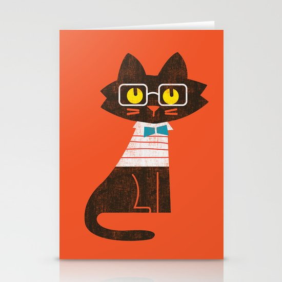 Fitz - Preppy cat Stationery Cards