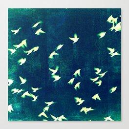 Retro Birds Canvas Print