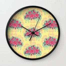 Petit Rose Bouquet Wall Clock