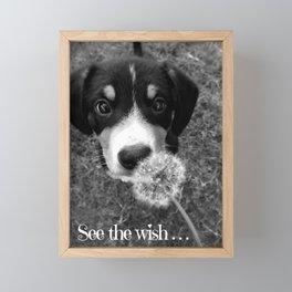 See the wish... Framed Mini Art Print