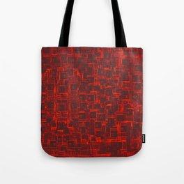 Adventure Black on Red Tote Bag