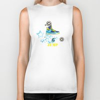 sneaker Biker Tanks featuring Jump, Dance, Sneaker, Hip Hop by MiartDesignCreation