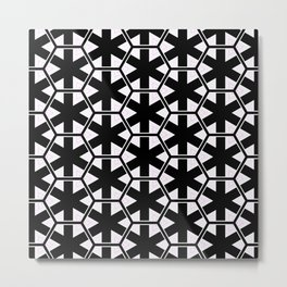 Multi Pattern Black and White Design Metal Print