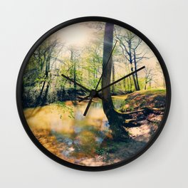 I Wish I Had A River I Could Sail Away On Wall Clock