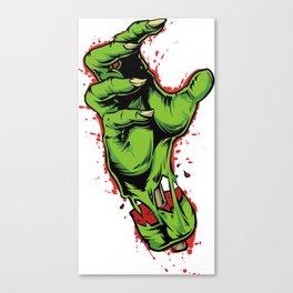 Zombie Hand Canvas Print