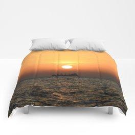 Heart in Sunset 1 Comforters