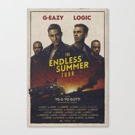 G-EAZY & LOGIC THE ENDLESS SUMMER TOUR 2016 Canvas Print