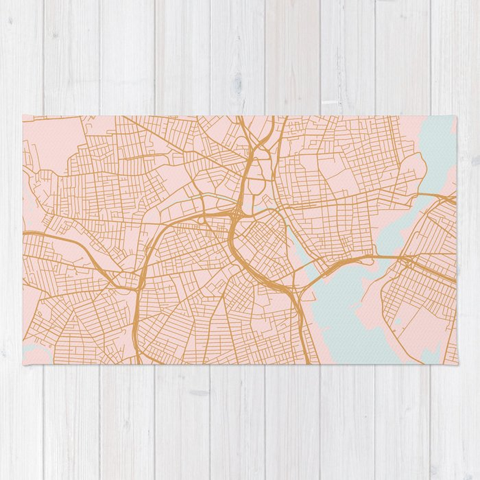 Providence map, Rhode Island Rug