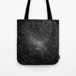 Constellation Star Map (B&W) Tote Bag