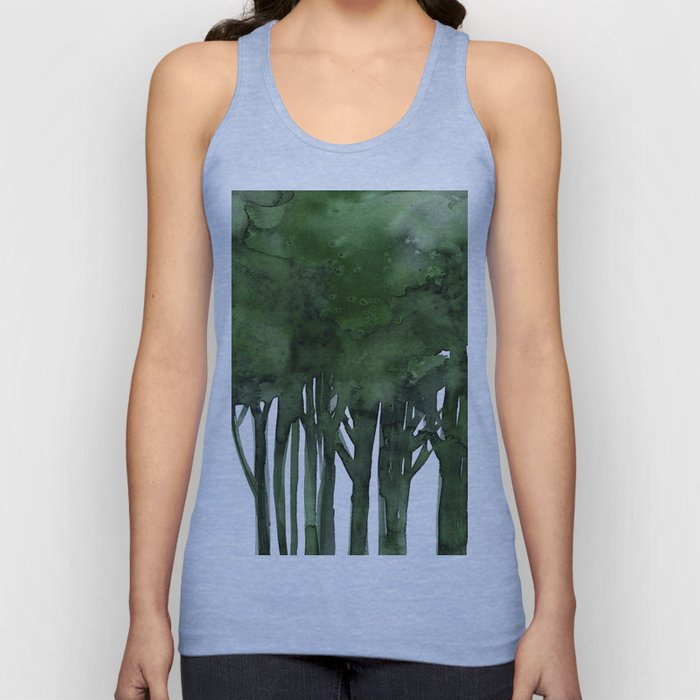 Tree Impressions No.1C by Kathy Morton Stanion Unisex Tank Top