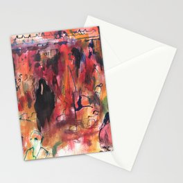 Watercolor of Marrakech market Stationery Cards